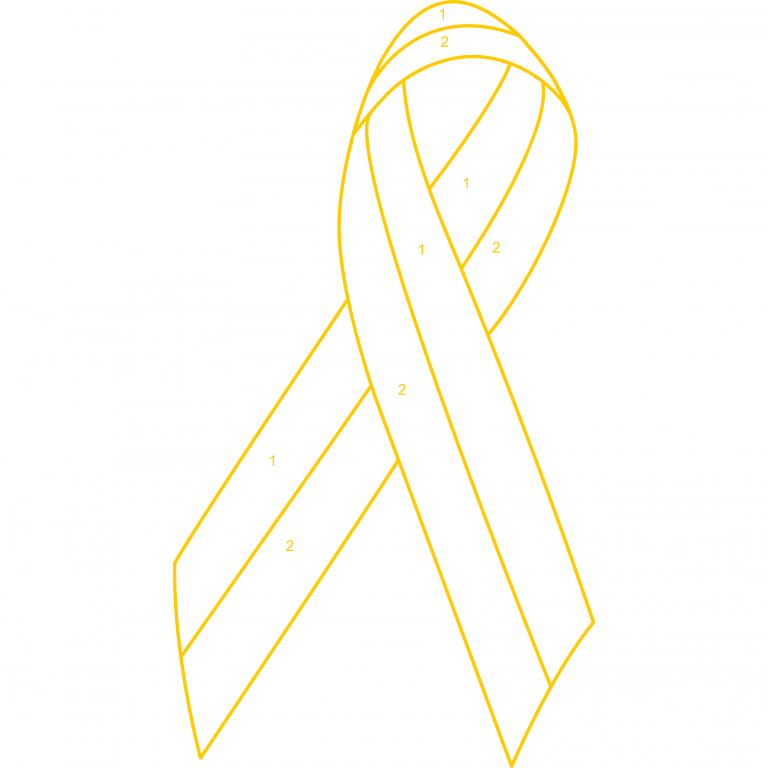 Customized 2 Color Awareness Ribbon Lapel Pin – Choose Your Own Colors