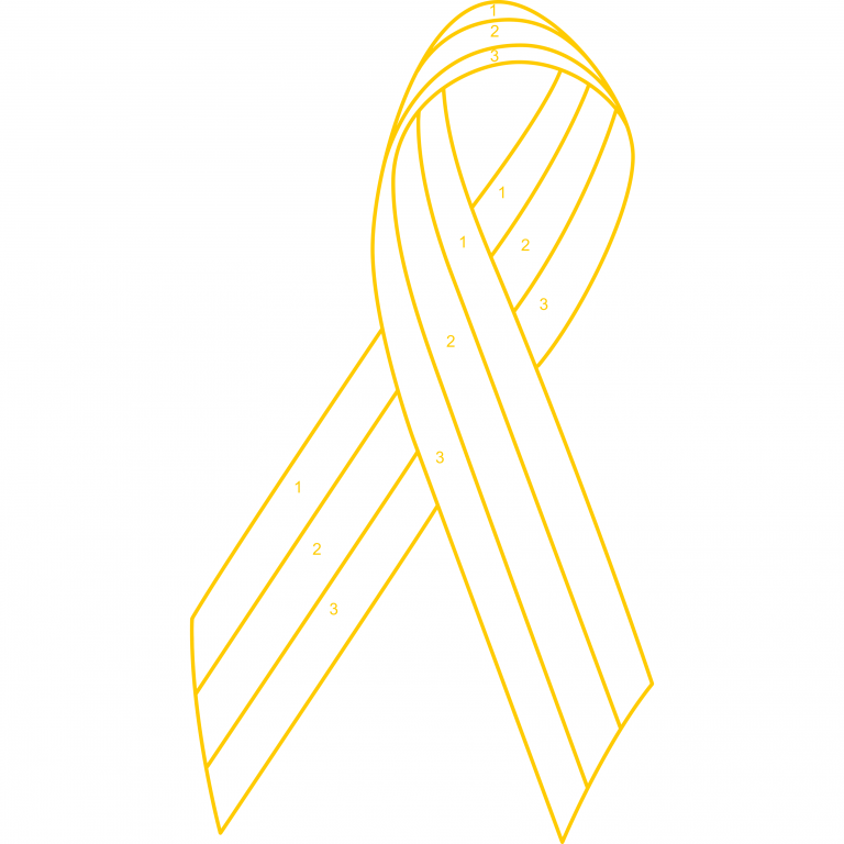Customized 3 Color Awareness Ribbon Lapel Pin – Choose Your Own Colors