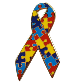 autism awareness ribbon pins