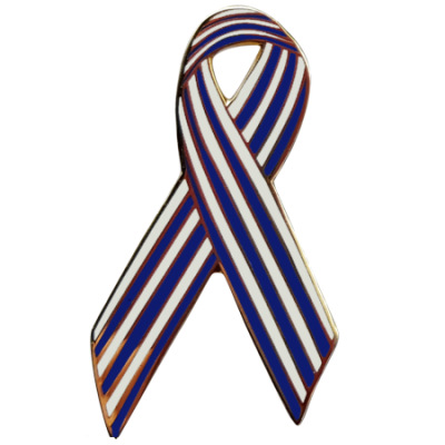 als awareness ribbon pin